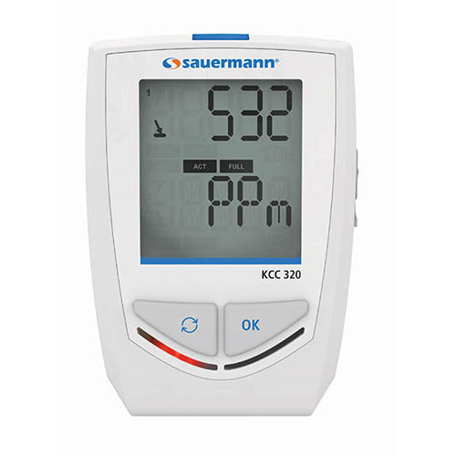 Sauermann KCC 320 Bluetooth IAQ Data Logger with Built-In Sensors for RH, hPa, ppm, and Temperature