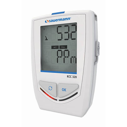 Sauermann KCC 320 Bluetooth IAQ Data Logger with Built-In Sensors for RH, hPa, ppm, and Temperature (Right View)