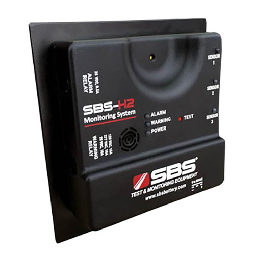 Click for larger image of the Storage Battery System SBS-H2 Hydrogen Gas Detector, Visual and Audible Alarms