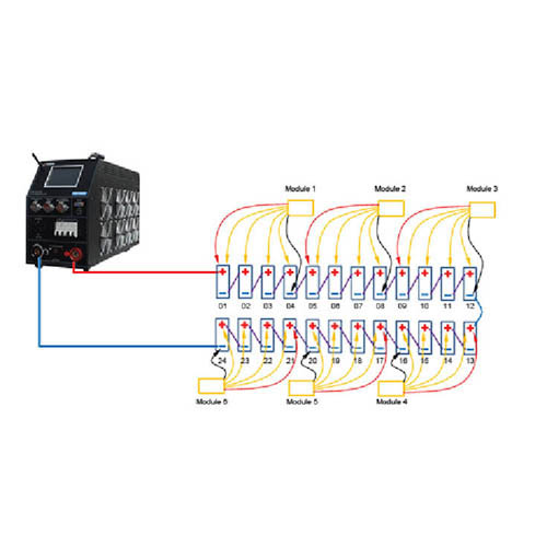 Storage Battery Systems SBS-8400 Programmable Constant Current DC Load Bank with Monitoring, 10-300VDC, 120ADC, 120VAC Line Input (Wireless Module Diagram)