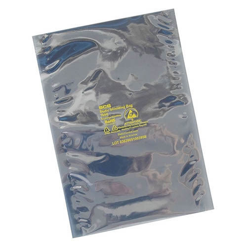 SCS 100716 Metal-In Static Shield Bag 7 in. X 16 in. 100 Count