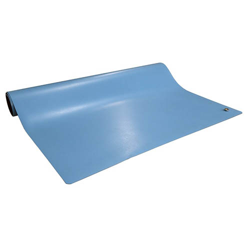 SCS 6841 Dissipative ESD 2-Layer Rubber Worksurface Mat Roll, Blue, 0.072 in. X 24 in. X 50 ft.