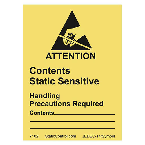 SCS 7102 Destructible Caution Label, RS-471, 1.8 in. x 2.5 in., 500 per Roll