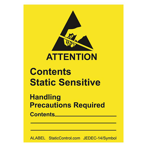 SCS ALABEL Attention Label, RS-471, 1-7/8 in. x 2-1/2 in., 500 per Roll