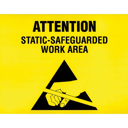 SCS ESDSIGN8.5X11 ESD Awareness Sign, RS-471, 8.5 in. x 11 in.