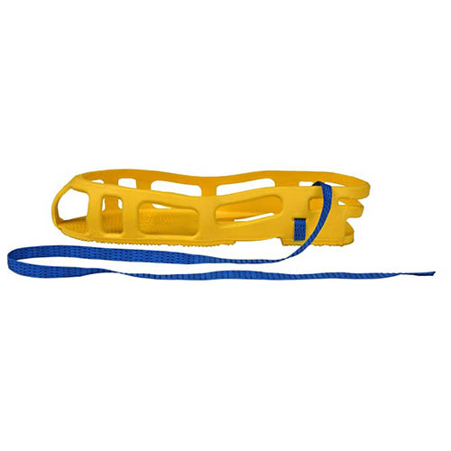 SCS SAR-S Full Coverage Foot Grounder Pair, Yellow, Size Small (Angle)