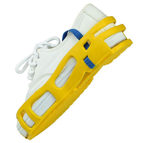 SCS SAR-S Full Coverage Foot Grounder Pair, Yellow, Size Small
