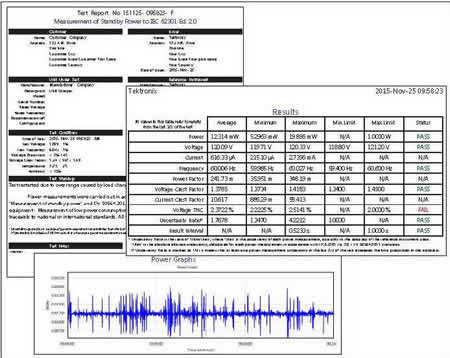 Formatted test reports to prove design performance