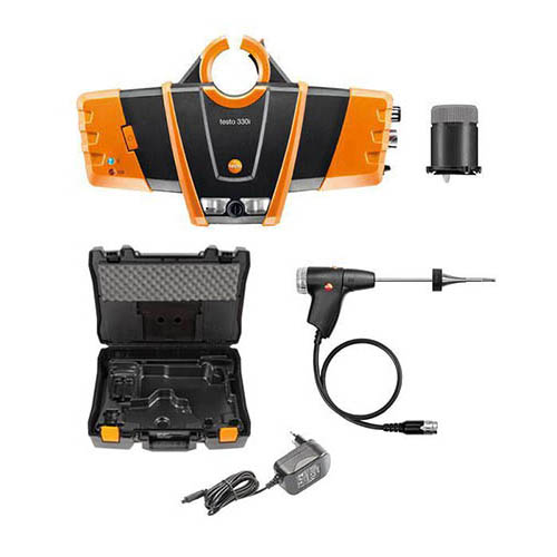 Testo 330i-Kit2 Combustion Analyzer Kit with Bluetooth and Auto CO Dilution (O2, CO, NO)