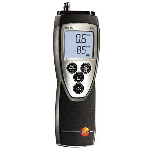 Testo 512 (0560 5128) Differential Pressure and Flow Velocity Meter, 0 to 200 hPA