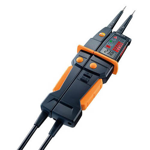 Testo 750-3 Digital Voltage Continuity and Phase Sequence Tester with GFCI Testing and 3 digit LCD
