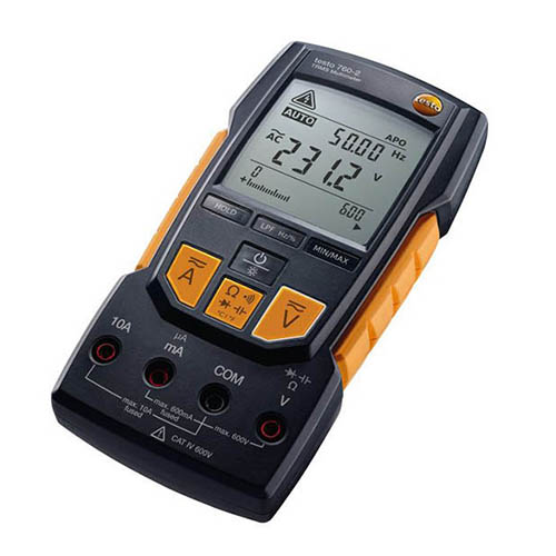 Testo 760-2 (0590 7602) TRMS Digital Multimeter, AC/DC 600V, Auto-Test, Capacitance, Low Pass Filter