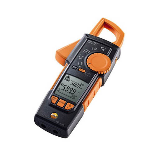 Testo 770-3 (0590 7703) True-RMS AC/DC Clamp Meter, 600A, Inrush, Temperature and Bluetooth