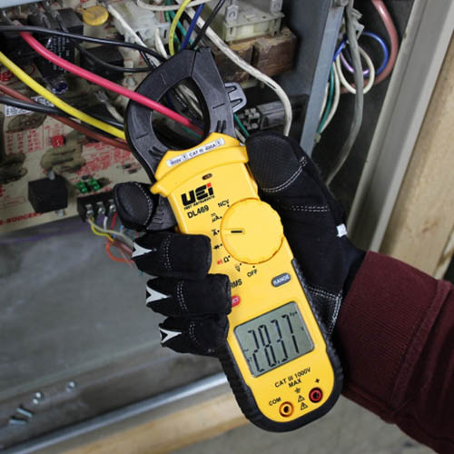 UEi DL469 True-RMS AC Clamp Meter, 750VAC/600VDC, 400AAC with Non-Contact Voltage Tester (DL469 in Action)