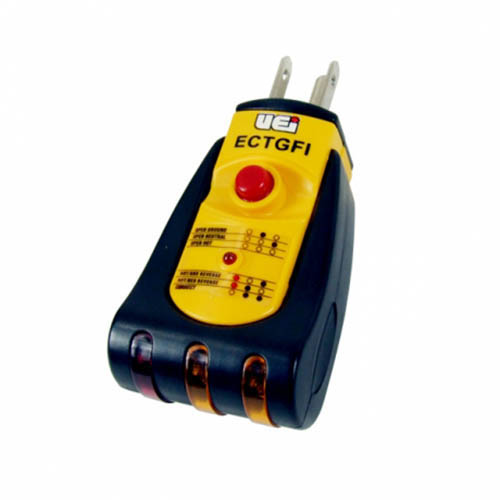 Ground Fault Indicator Testers : Uei ectgfi ground fault indicator for v ac outlets at