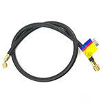 "Click here for a larger image of the Yellow Jacket 16296 Heavy Duty Charging Hose, 96"", 3/8"" Str. x 1/4"" 45°"