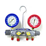Click here for larger image of the Yellow Jacket 46021 Manifold only, Liquid Gauges, Bar/Psi, R-22