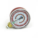 "Click here for larger image of the Yellow Jacket 49057 2 1/2"" Red Pressure Gauge, °C, R-134A/404A/507"
