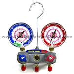 Click here for larger image of the Yellow Jacket 49862 Manifold only, R/B Gauges, Bar/Psi, R-410A