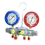 Click here for larger image of the Yellow Jacket 49973 Manifold only, Liquid Gauges, Psi, R-22/410A - ?F
