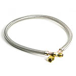 "Click to see the Yellow Jacket 83448 Stainless Steel Hose Flare Assembly, 5/8"" x 48"", Male x Female"