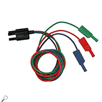 AEMC 2138.56 Color-coded 3-Pin Lead (red; blue & green)