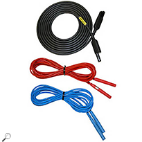 AEMC 2951.70 Set of 3 Color-coded 10ft safety leads for use with Models 1050/1060