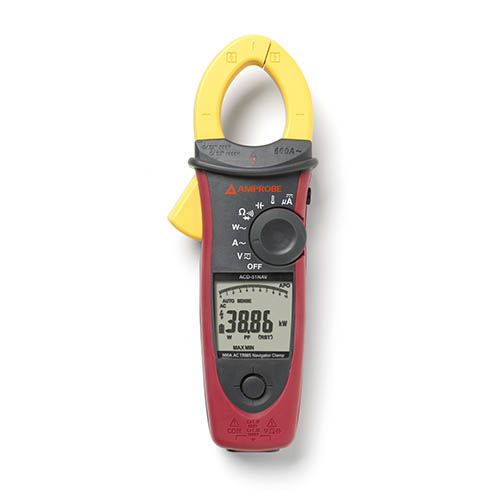 Amprobe ACD-51NAV 1000V/600A TRMS AC Navigator Clamp Meter with Temperature, THD and NCV Detector