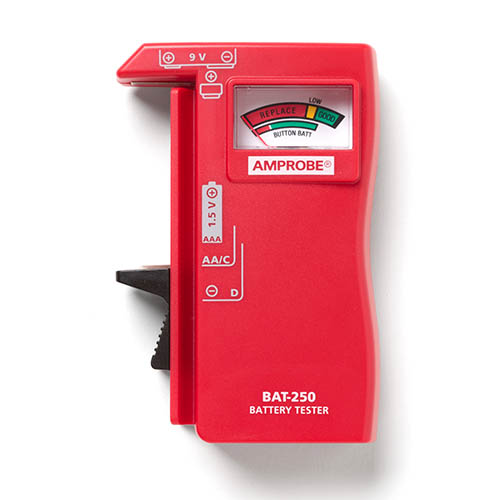 Hand Held Battery Tester : Amprobe bat hand held battery capacity tester with v