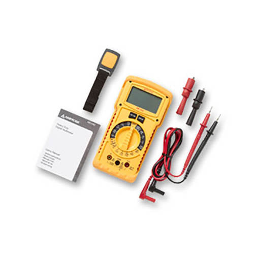 Amprobe HD110C Heavy Duty Digital Multimeter, 1500VDC /1000VAC, CAT IV, IP67 Rated, w/ Accessories (With Accessories)