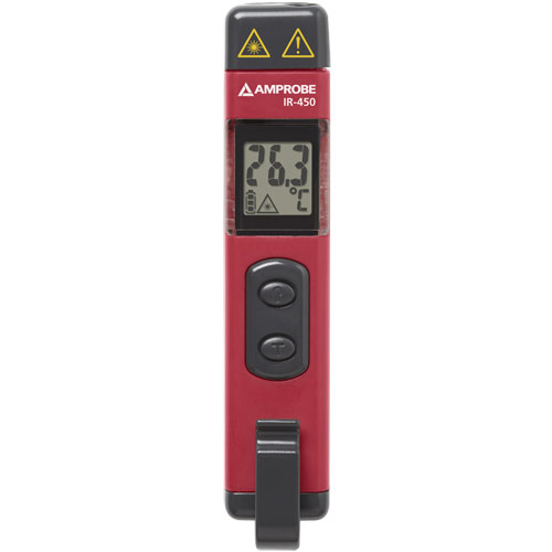 Amprobe IR-450 3-in-1 Infrared Pocket Thermometer, Laser Pointer, and Flashlight