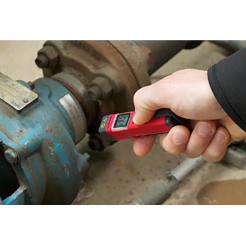 Amprobe IR-450 3-in-1 Infrared Pocket Thermometer, Laser Pointer, and Flashlight  (In Action 2)