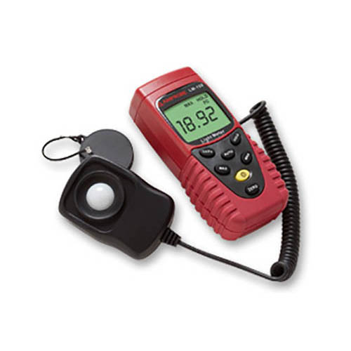 Amprobe LM120 Autoranging/Manual Digital Light Meter with Sensor Cap and Carry Case (Front)