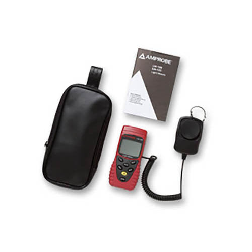 Amprobe LM120 Autoranging/Manual Digital Light Meter with Sensor Cap and Carry Case (With Accessories)