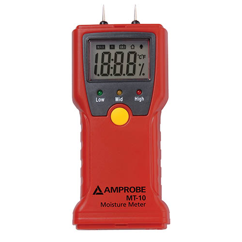 Amprobe MT-10 Moisture Meter for Wood, Paper, and Building Materials