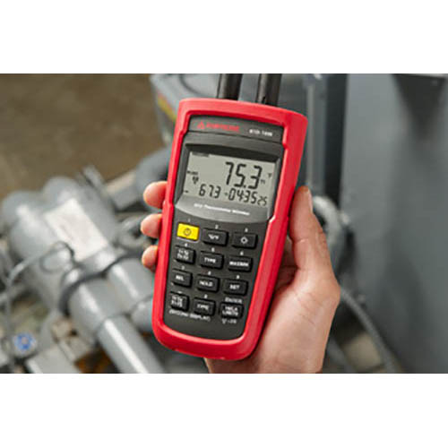 Amprobe RTD-10W Wireless Dual Input Digital Resistive Thermal Device (RTD) Thermometer (Front)