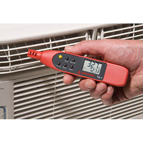 Amprobe TH-1 Compact Probe Style Relative Humidity Meter with Dual display for RH and Temperature (In Action)