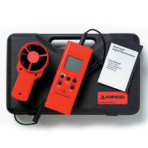 Amprobe TMA10A HVAC/R Anemometer Thermometer with Flexible Precision Vane and RS232 Interface (With Accessories)