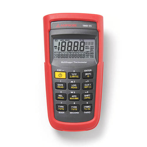Amprobe TMD-55 Digital Multilogger Thermometer with Backlit Triple Display and Built in Memory