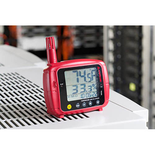 Amprobe TR300 Temperature / RH Data Logger with Real Tme Date/Hour Stamp and USB Cable (Front Standing)