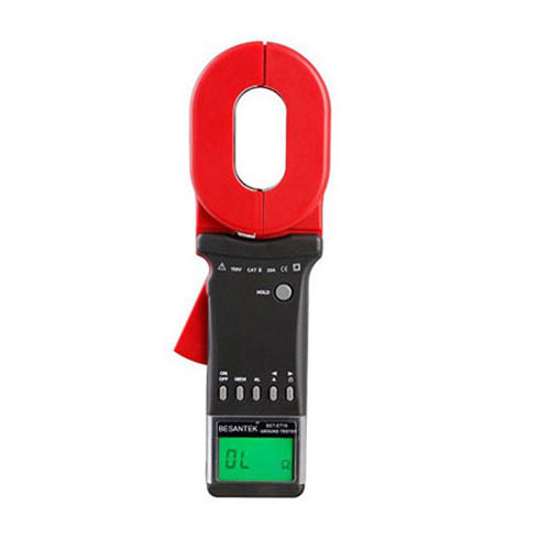 Besantek BST-ET16 Clamp On Ground Resistance Tester, Leakage to 20A, 65mm x 32mm Clamp