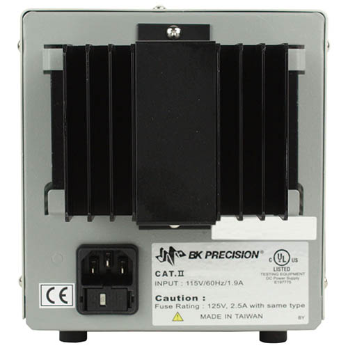 BK Precision 1730A-220V Single-Output Analog DC Power Supply, 30V/3A, 220VAC Line Input (Back)