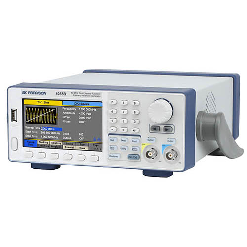BK Precision 4055B 60 MHz Dual Channel Function/Arbitrary Waveform Generator (Left View)