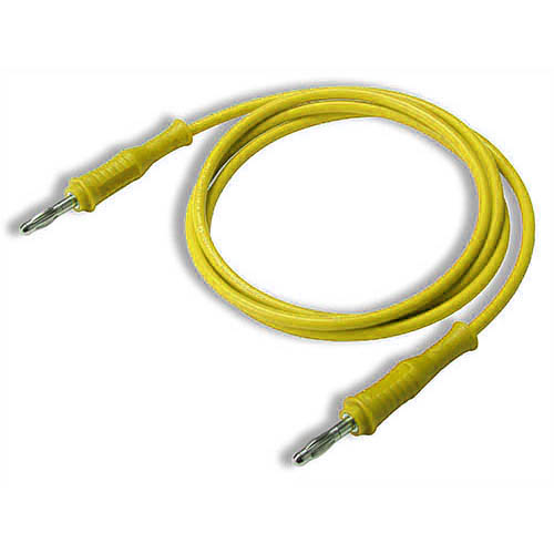 Cal Test CT2062-25-4 4mm Straight to Straight Banana Plug Test Lead, 25 cm, Yellow, Qty 10