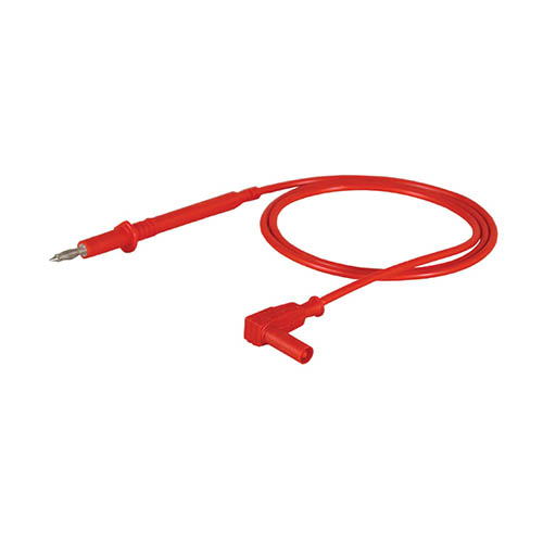 Cal Test CT2309-100-2 4mm banana contact on probe tip, 100 cm, Red, Qty 10