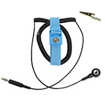 Click here for a larger image - Desco 04542 Trustat Adjustable Wrist Strap, Blue, 10' Coil Cord 7mm Snap