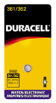 Duracell D361362PK Silver Oxide Watch Battery 1.5V - Click here for product information page