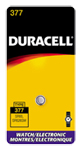 Duracell D377BPK Silver Oxide Watch Battery 1.5V - Click here for product information page