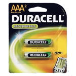 Duracell DC2400B2 AAA NiMH Round Cell Rechargable 2 Pack - Click here for product information page
