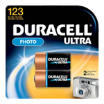 Duracell DL123AB2PK Lithium Battery Size 123 3.0V Photo 2 Pack - Click here for product information page